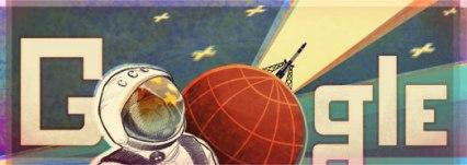 doodle de la llegada del hombre a la luna